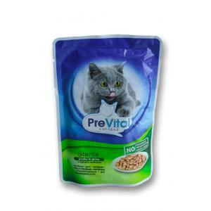 Prevital Cat With Poultry in Gravy for Sterelised Cats12 x 0.100 gr