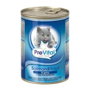Prevital Cat Salmon, Trout in Gravy 0.400 kg