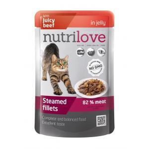 NutriLove Pouch Cat Beef in Jelly 0.085 gr