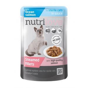 NutriLove Pouch Cat Sterilized Salmon in Gravy 0.085 gr