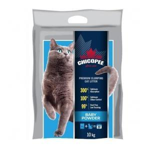 CHICOPEE PREMIUM CLUMPING CAT LITTER - BABY POWDER 10 kg