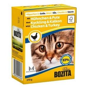 Bozita Cat Chicken & Turkey -  (vista un tītars mērcē) 6 x 0.380gr