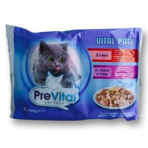 Prevital Cat With Beef, Rabbit and Turkey in Gravy 0.400 gr