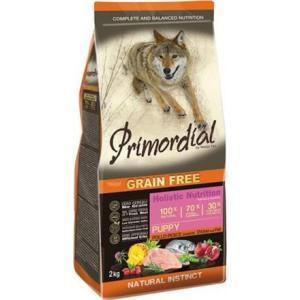 Primordial Grain Free Puppy Chicken& Sea Fish 12 kg ar vistas gaļu un zivim.