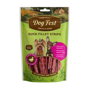 Dog Fest Duck Fillet Strips mini (pīles fileja) 0.55gr