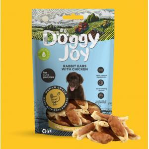 Doggy Joy Rabbit ears with Chicken (Trušu ausis ar vistu) 0,90 gr