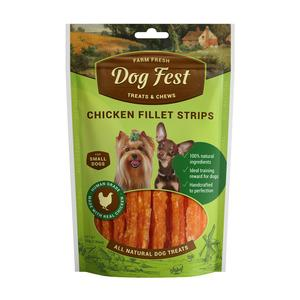 Dog Fest Chicken fillet strips (vistas fileja plaksnesi) 0.55 gr