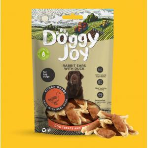 Doggy Joy Rabbit Ears With Duck (trušu ausis ar pīli) 90 gr