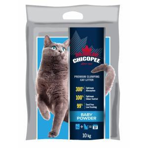 АКЦИЯ! 5 CHICOPEE PREMIUM CLUMPING CAT LITTER - BABY POWDER 10 кг